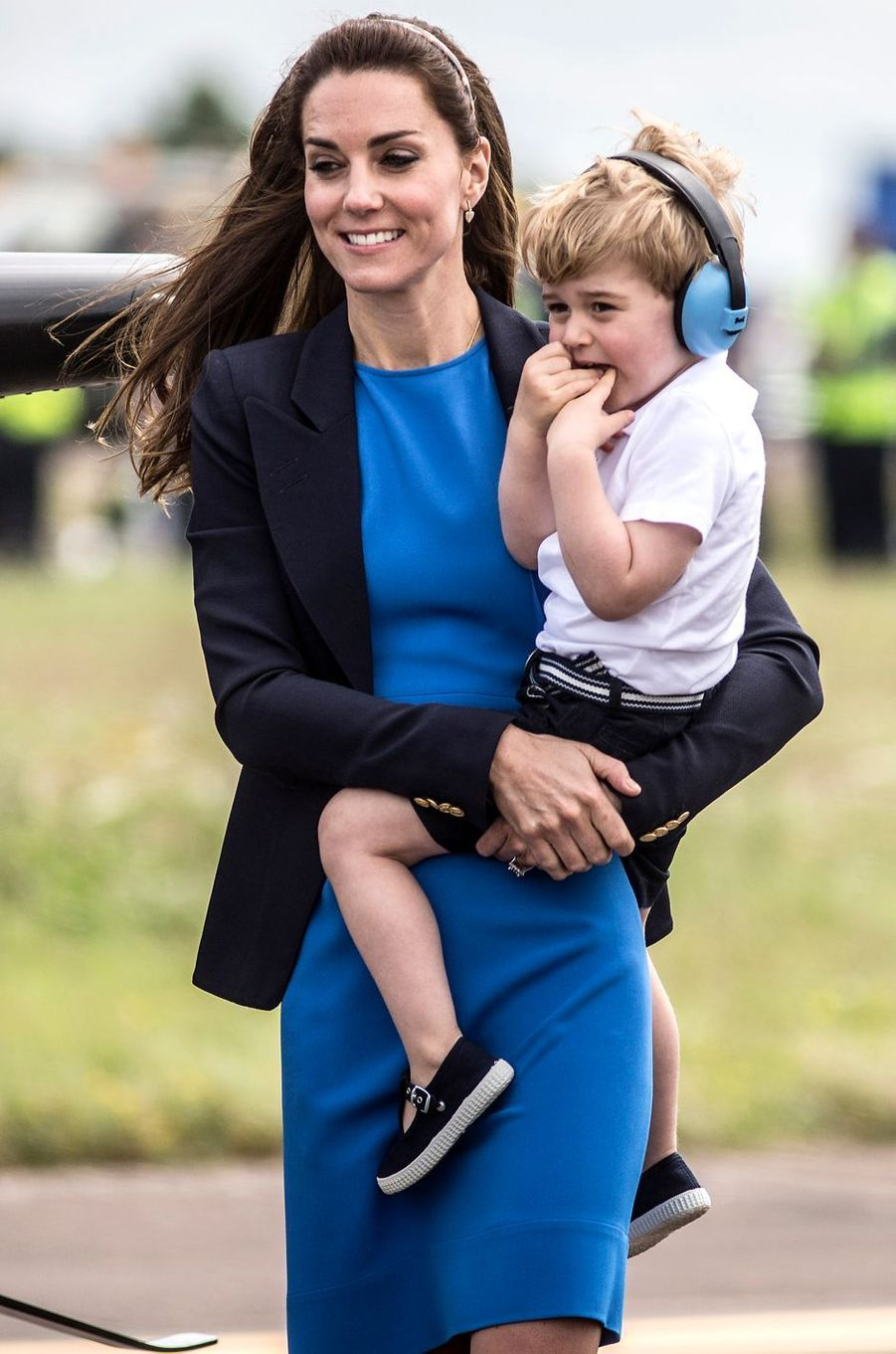 La duchesse Catherine de Cambridge, à Fairford le 8 juillet 2016