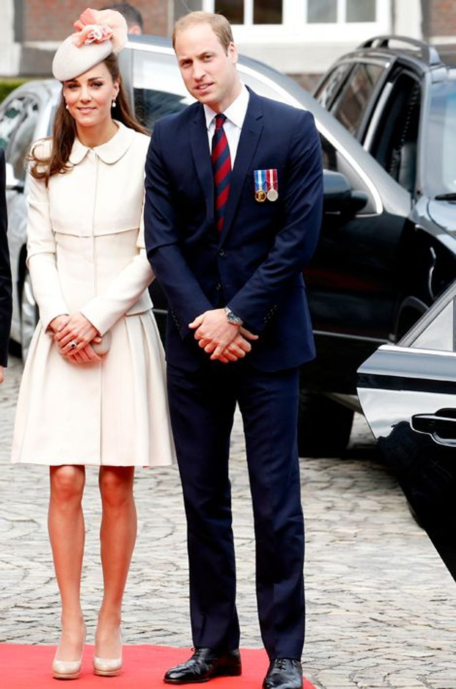 Kate en Alexander McQueen, avec le prince William, à Liège le 4 août 2014