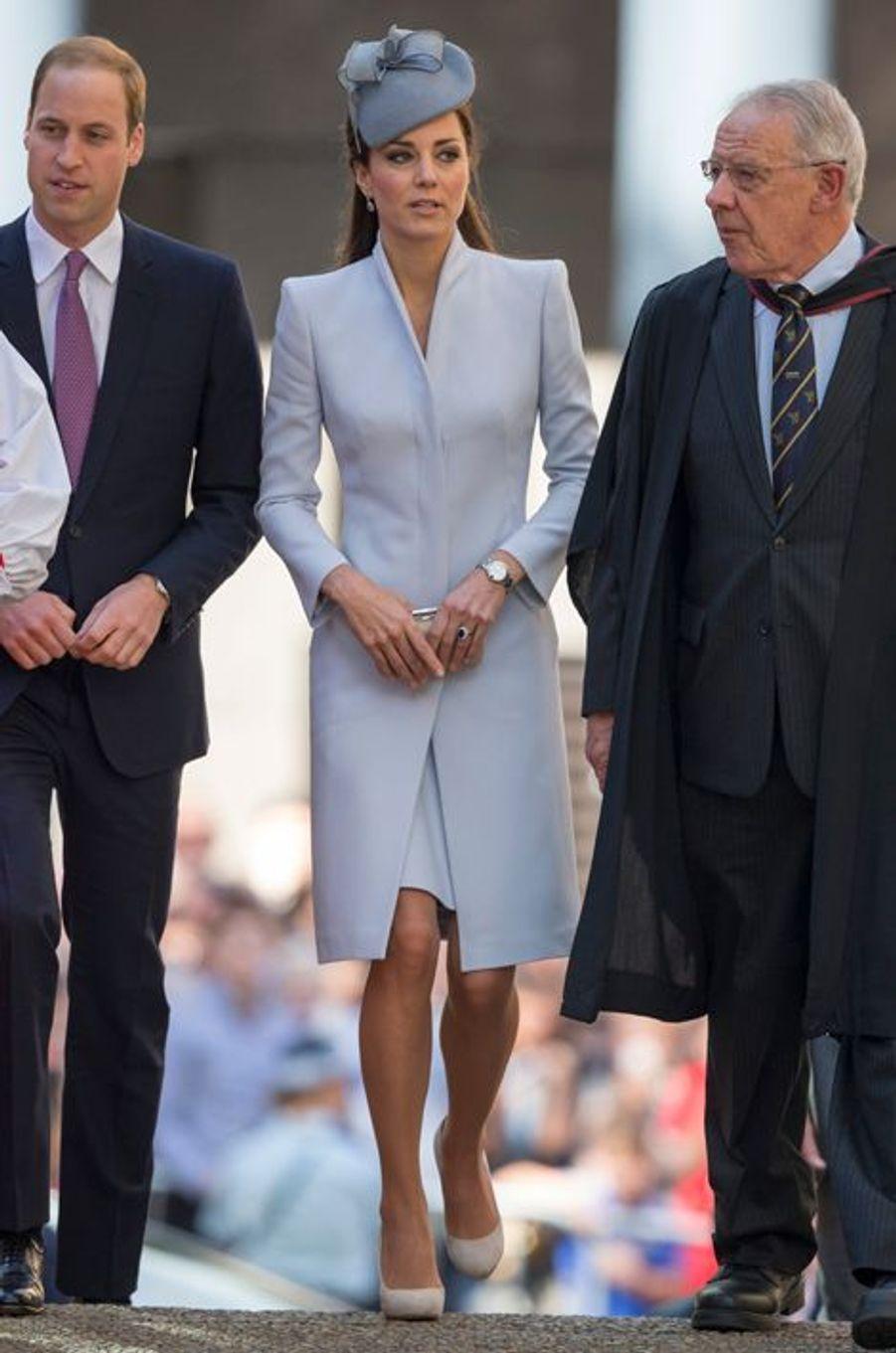 Kate en Alexander McQueen, avec le prince William, à Sydney le 20 avril 2014