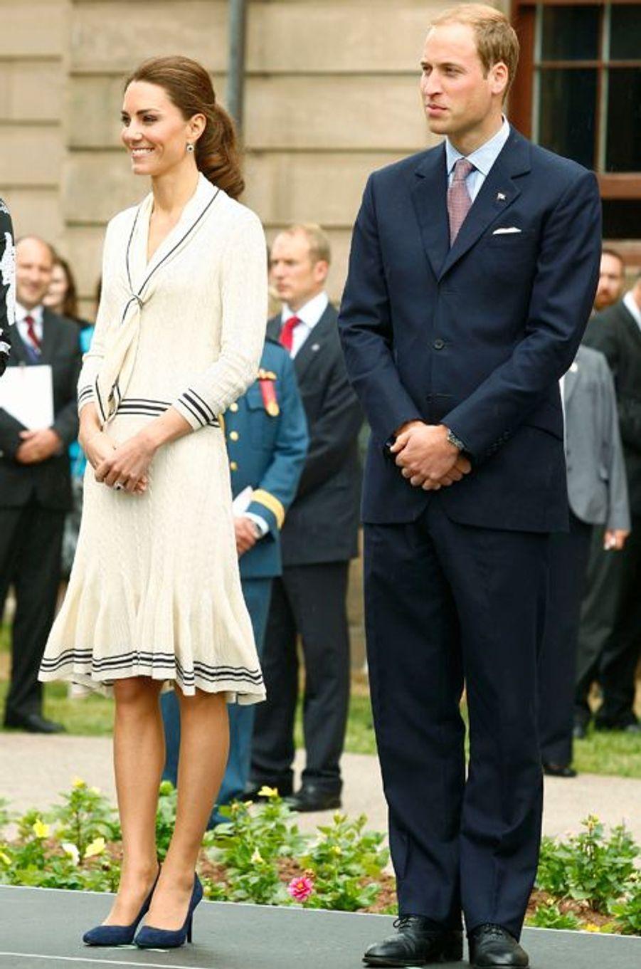 Kate en Alexander McQueen, avec le prince William, au Canada le 4 juillet 2011