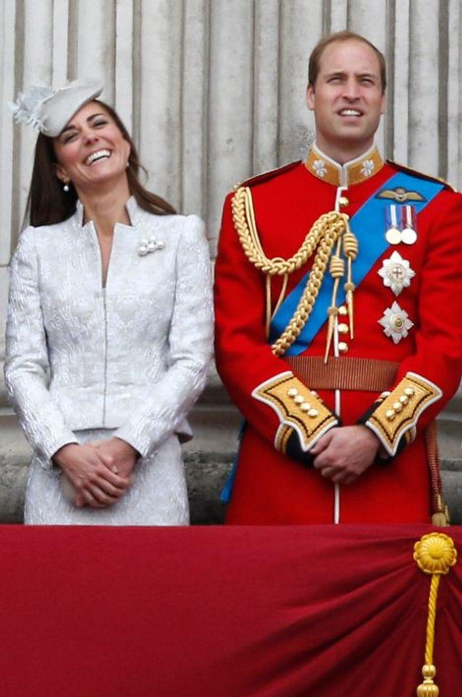 Kate en Alexander McQueen, avec le prince William, le 16 juin 2014
