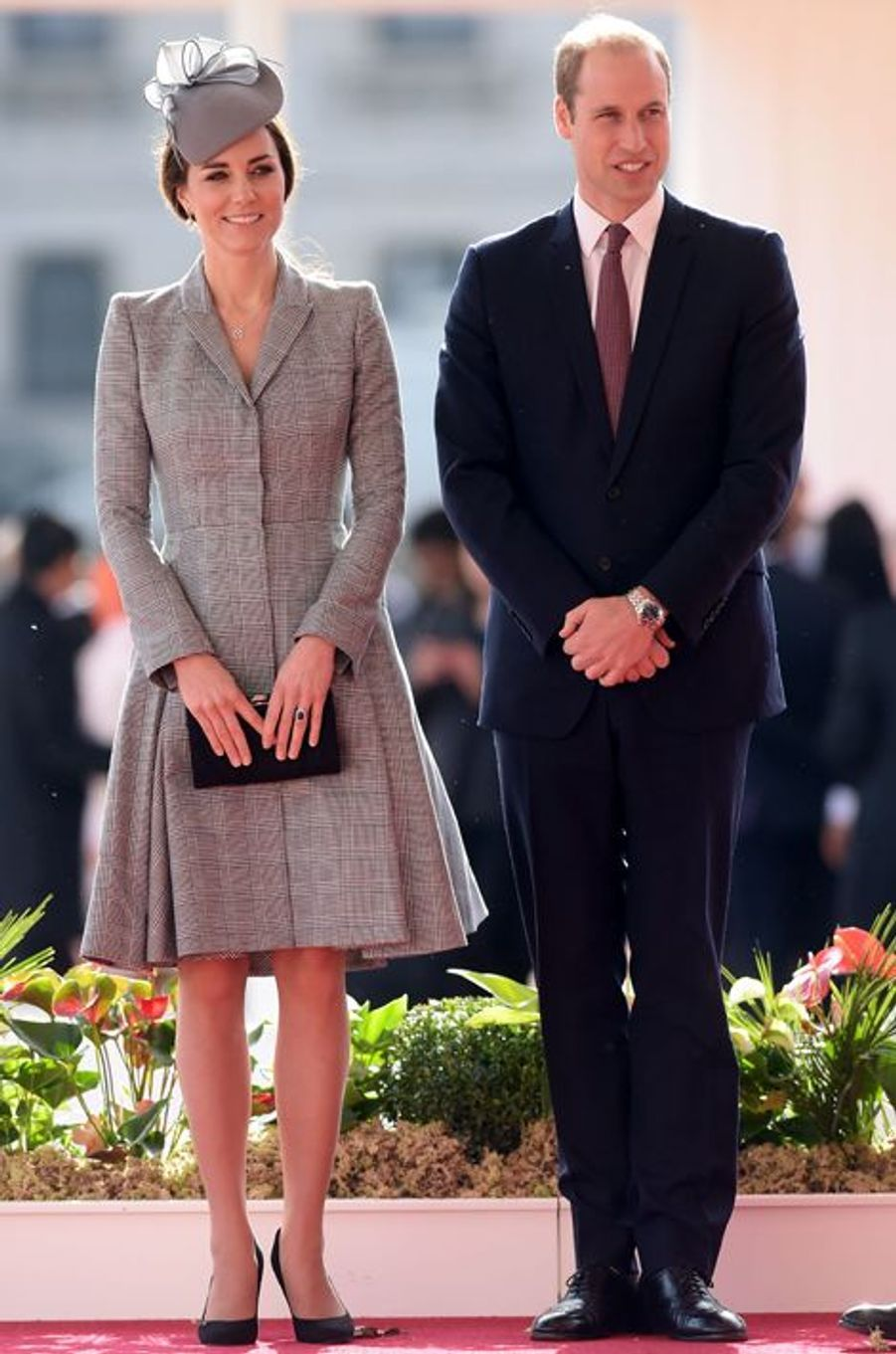 Kate en Alexander McQueen, avec le prince William, le 21 octobre 2014