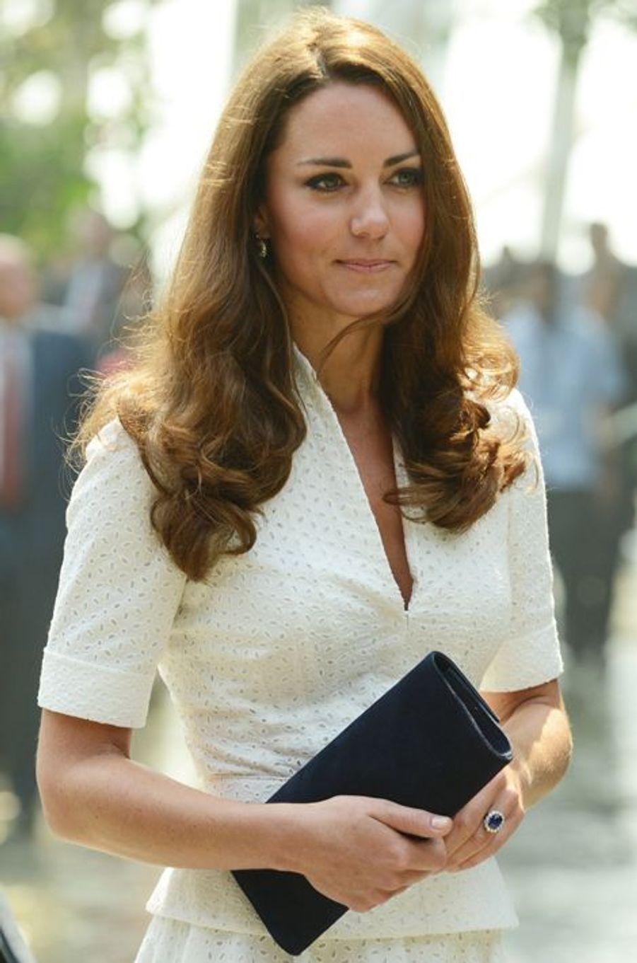 Kate en Alexander McQueen, le 12 septembre 2012