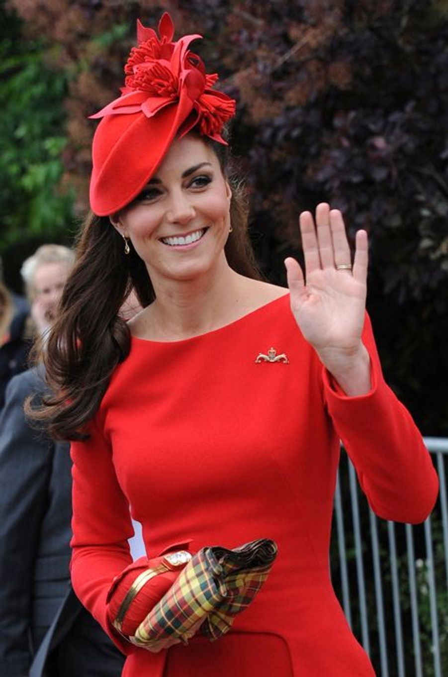 Kate en Alexander McQueen, le 3 juin 2012