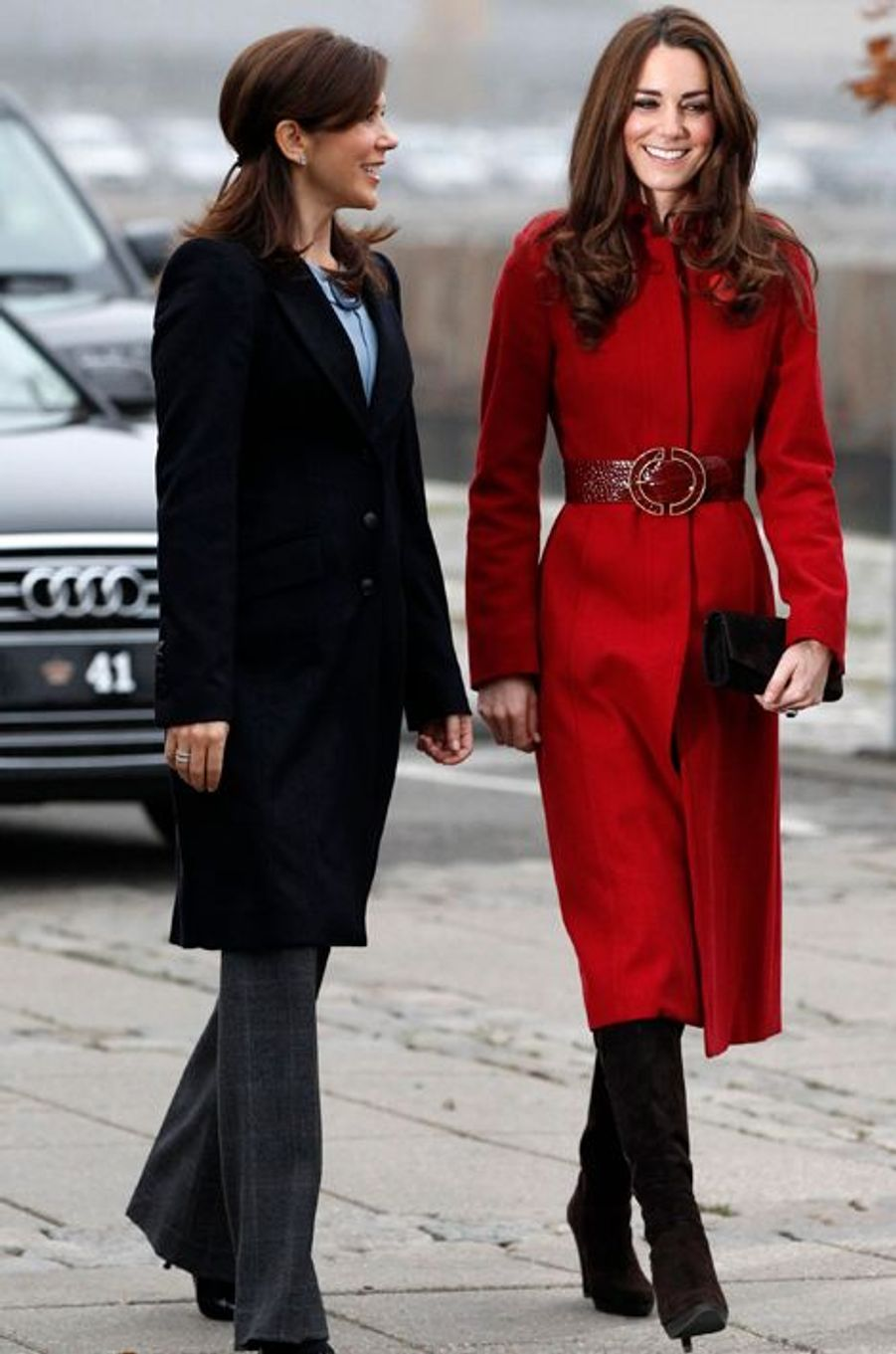 La duchesse de Cambridge Kate avec la princesse Mary de Danemark, le 2 novembre 2011