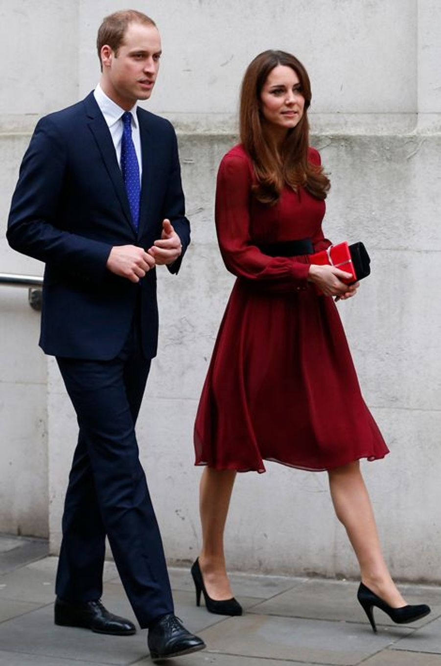 La duchesse de Cambridge Kate avec le prince William, le 11 janvier 2013