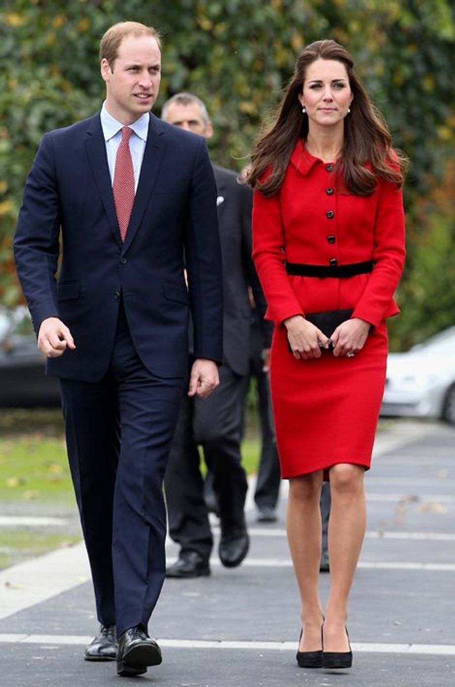 La duchesse de Cambridge Kate avec le prince William, le 14 avril 2014