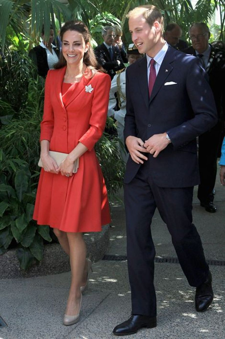La duchesse de Cambridge Kate avec le prince William, le 8 juillet 2011