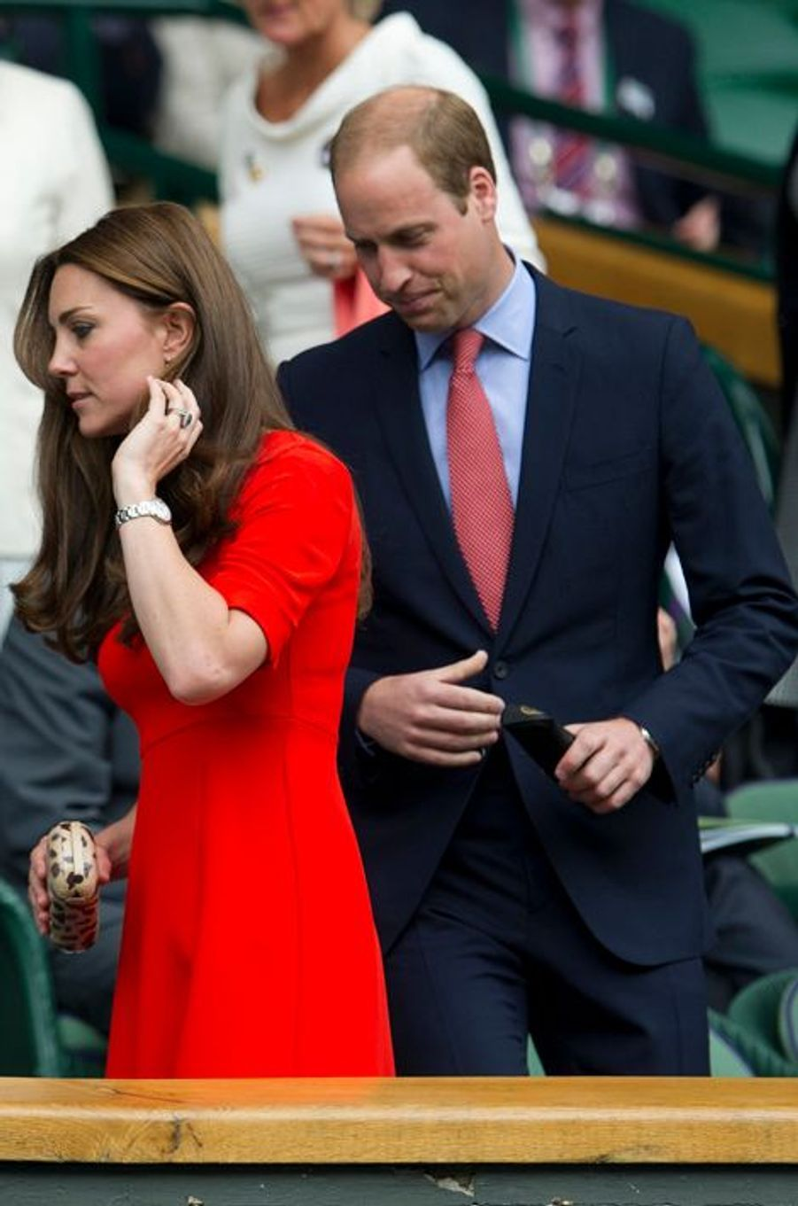 La duchesse de Cambridge Kate avec le prince William, le 8 juillet 2015