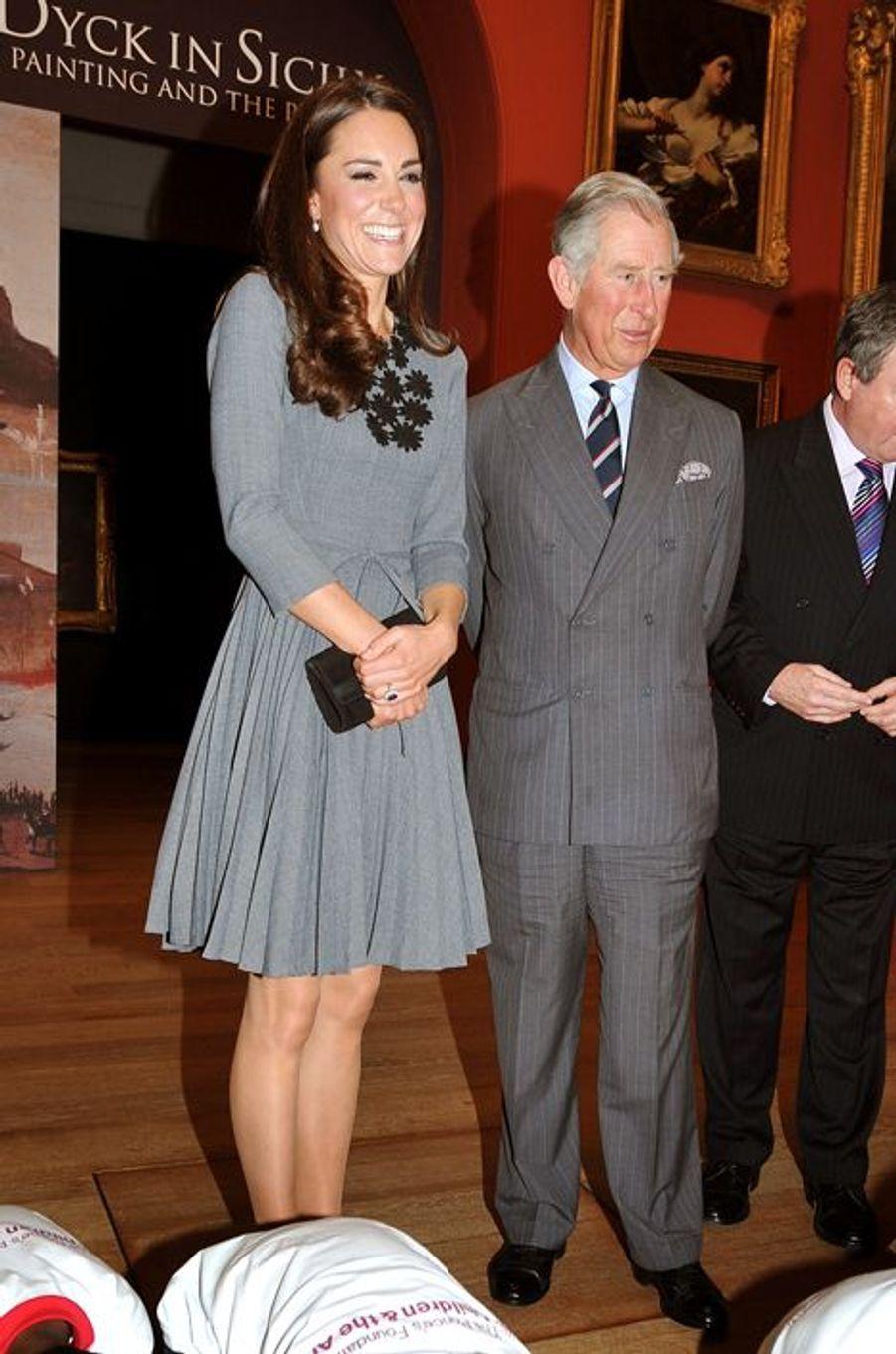 La duchesse Kate avec le prince Charles le 15 mars 2012