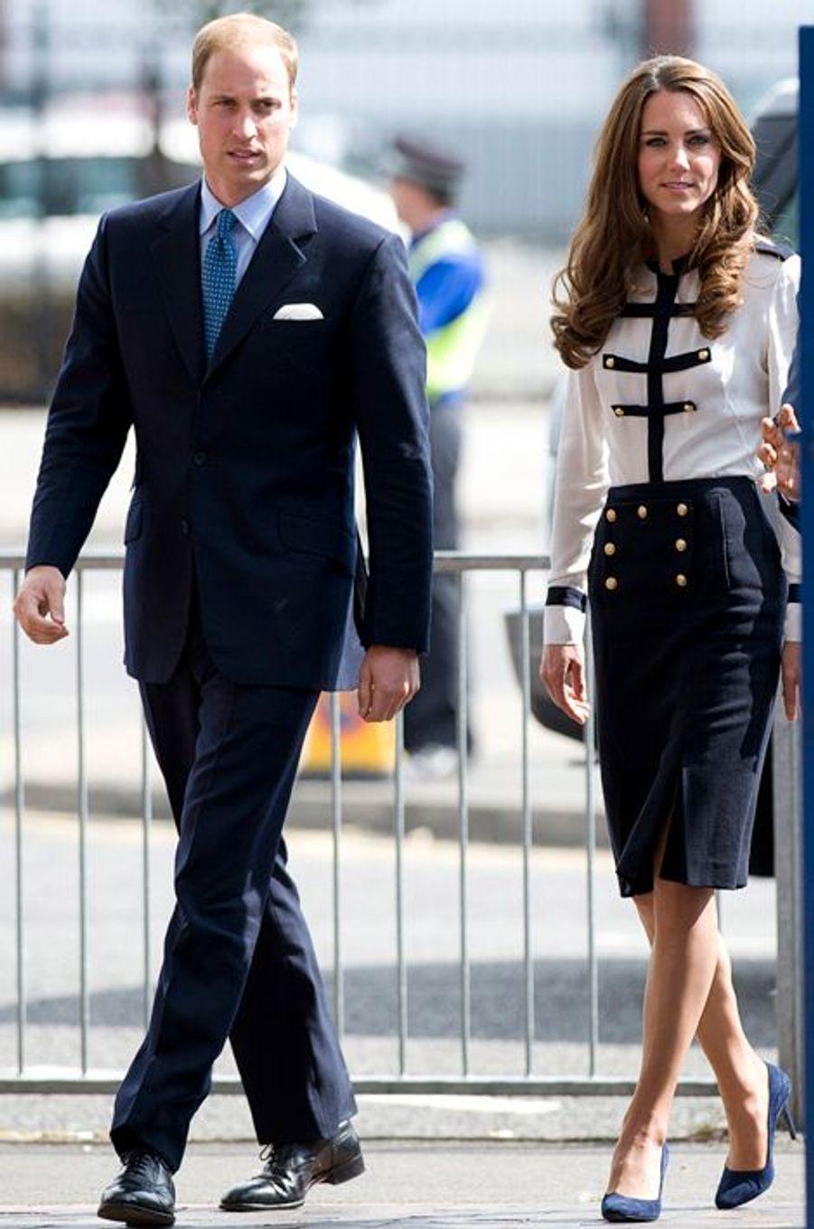 La duchesse Kate avec le prince William le 19 août 2011