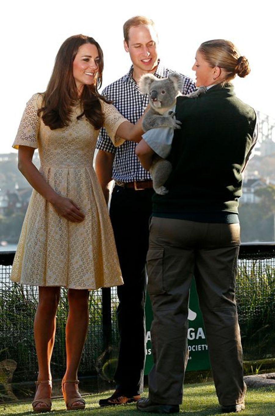 La duchesse Kate avec le prince William le 20 avril 2014