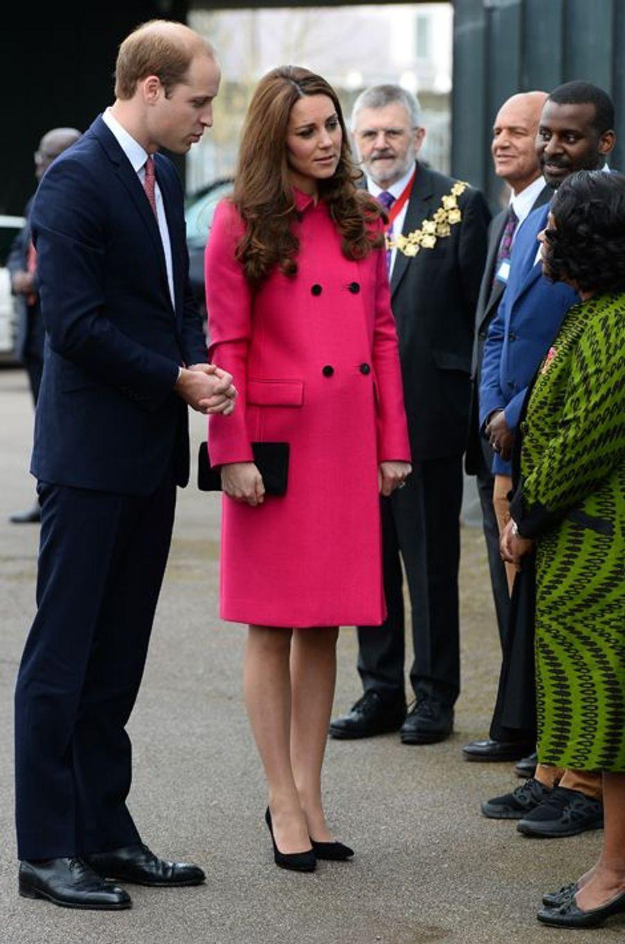 La duchesse Kate avec le prince William le 27 mars 2015