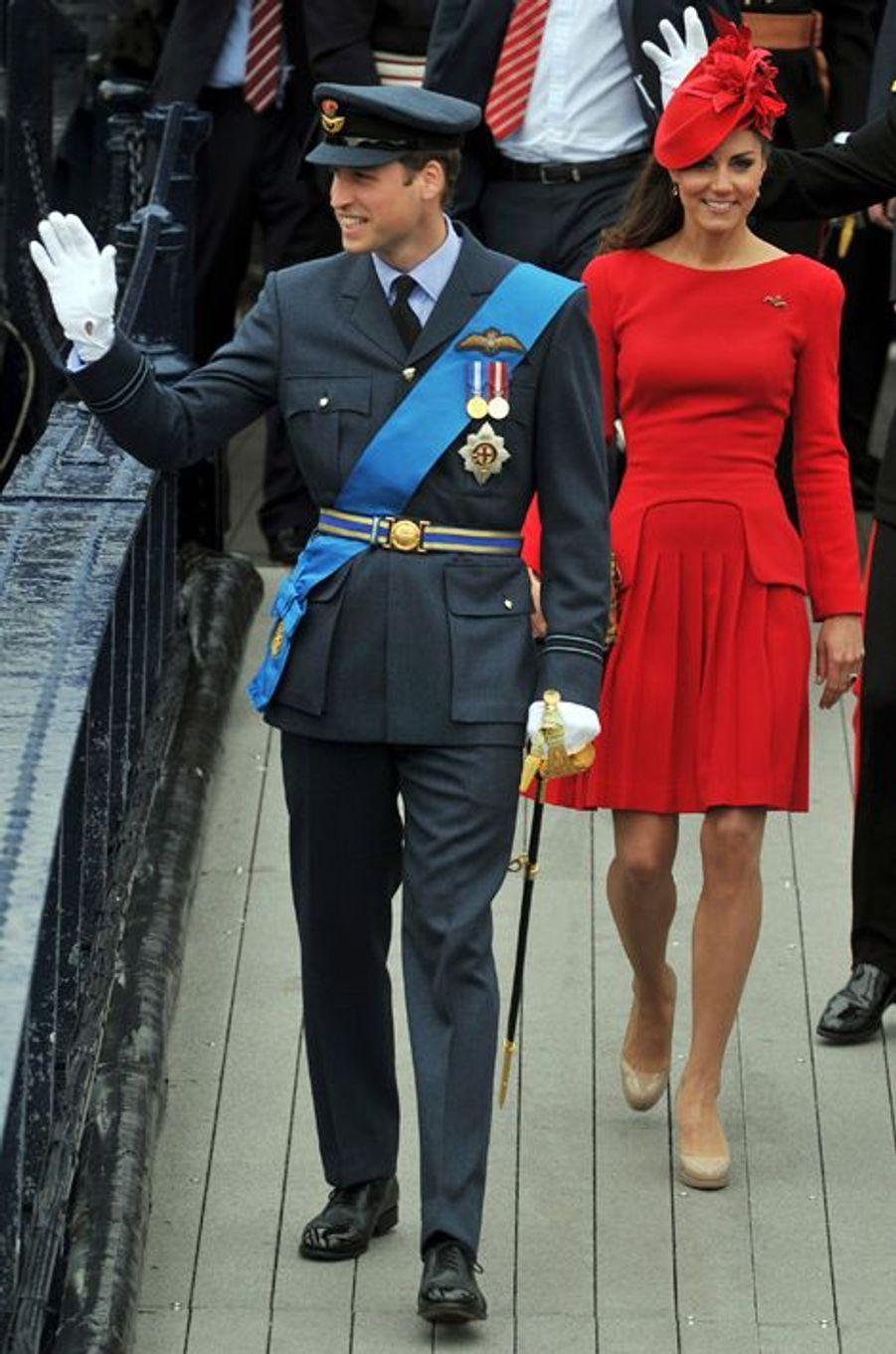 La duchesse Kate avec le prince William le 3 juin 2012