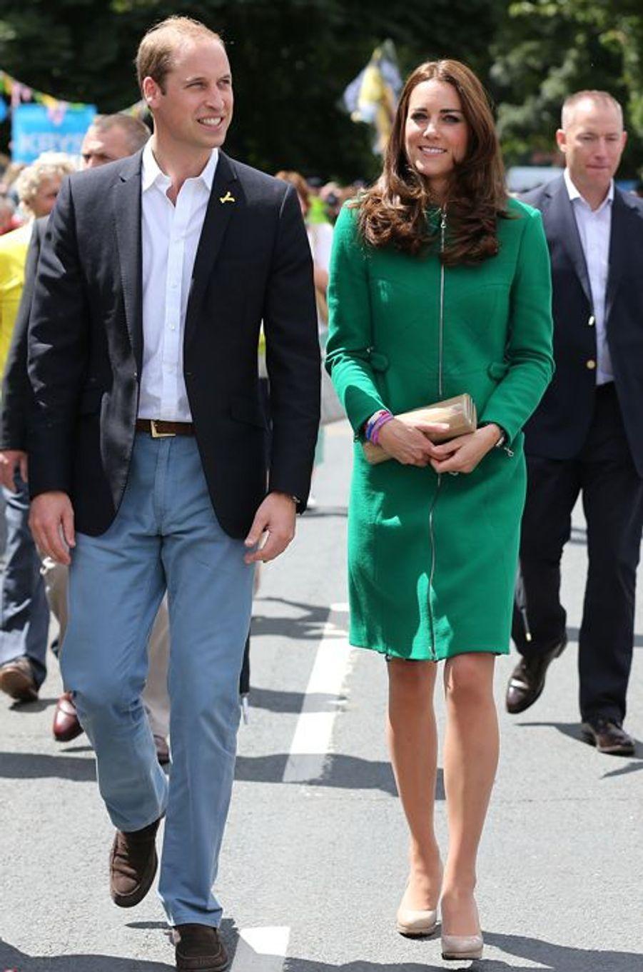 La duchesse Kate avec le prince William le 5 juillet 2014