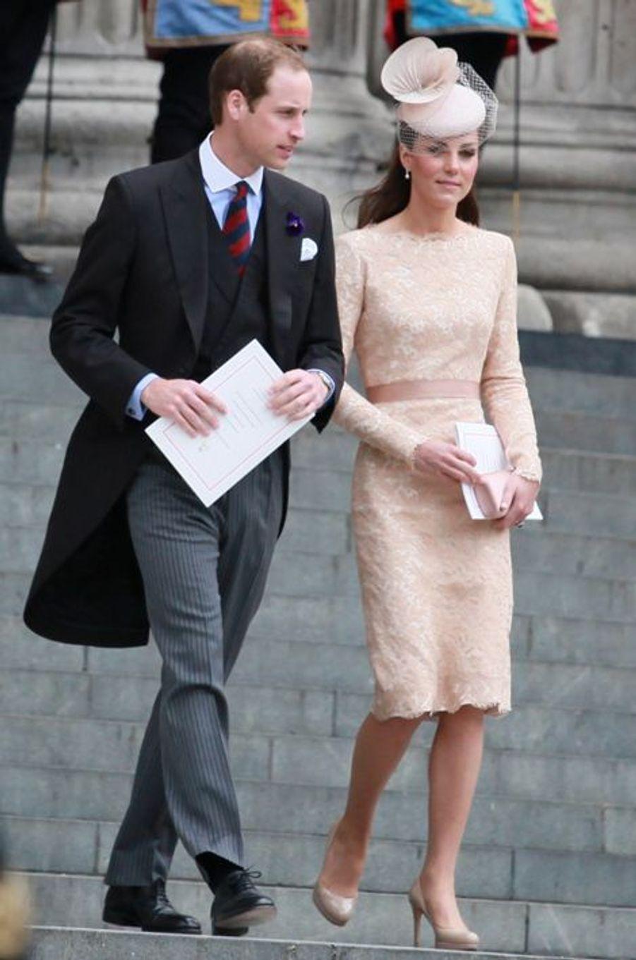 La duchesse Kate avec le prince William le 5 juin 2012