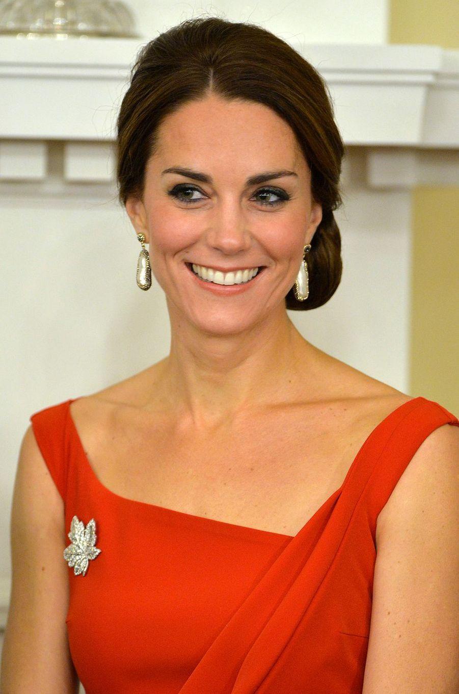 La duchesse Catherine de Cambridge dans une robe Preen au Canada, le 26 septembre 2016
