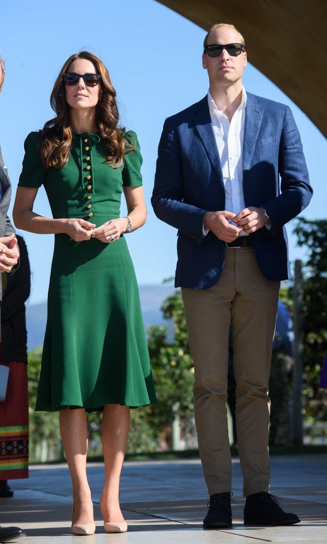 La duchesse Catherine de Cambridge dans une robe Dolce & Gabbana au Canada, le 27 septembre 2016