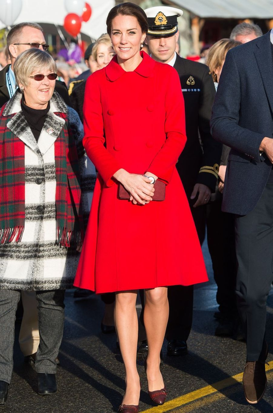 La duchesse Catherine de Cambridge dans un manteau Carolina Herrera au Canada, le 28 septembre 2016