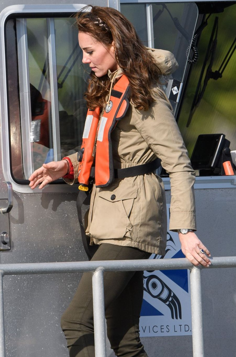 La duchesse Catherine de Cambridge dans une parka Troy au Canada, le 30 septembre 2016