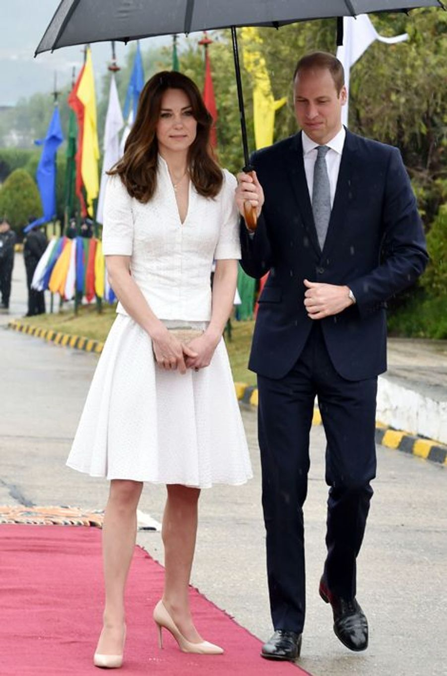 La duchesse Catherine de Cambridge en Alexander McQueen, le 16 avril 2016