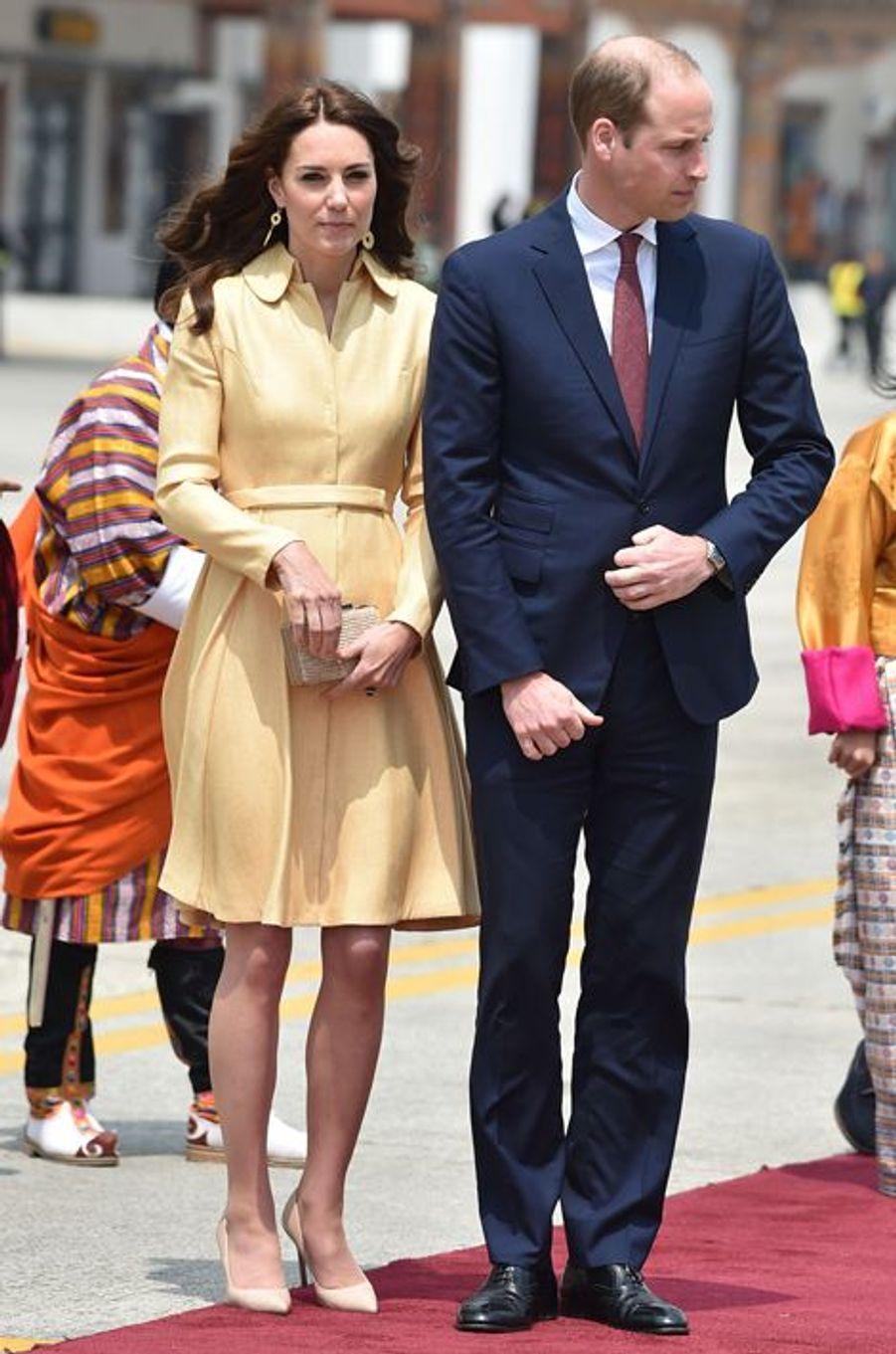 La duchesse Catherine de Cambridge en Emilia Wickstead, le 14 avril 2016