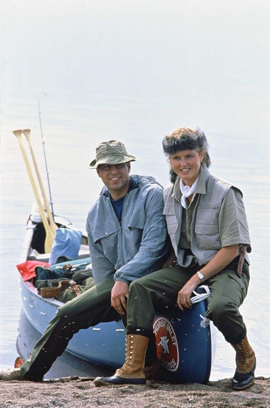 Sarah Ferguson avec le prince Andrew, en juillet 1987