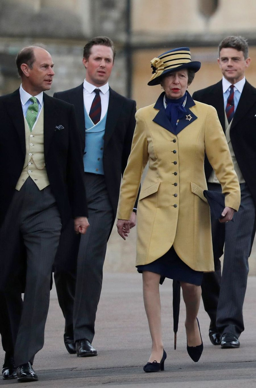 La princesse Anne au mariage de Lady Gabriella à Windsor, le 18 mai 2019