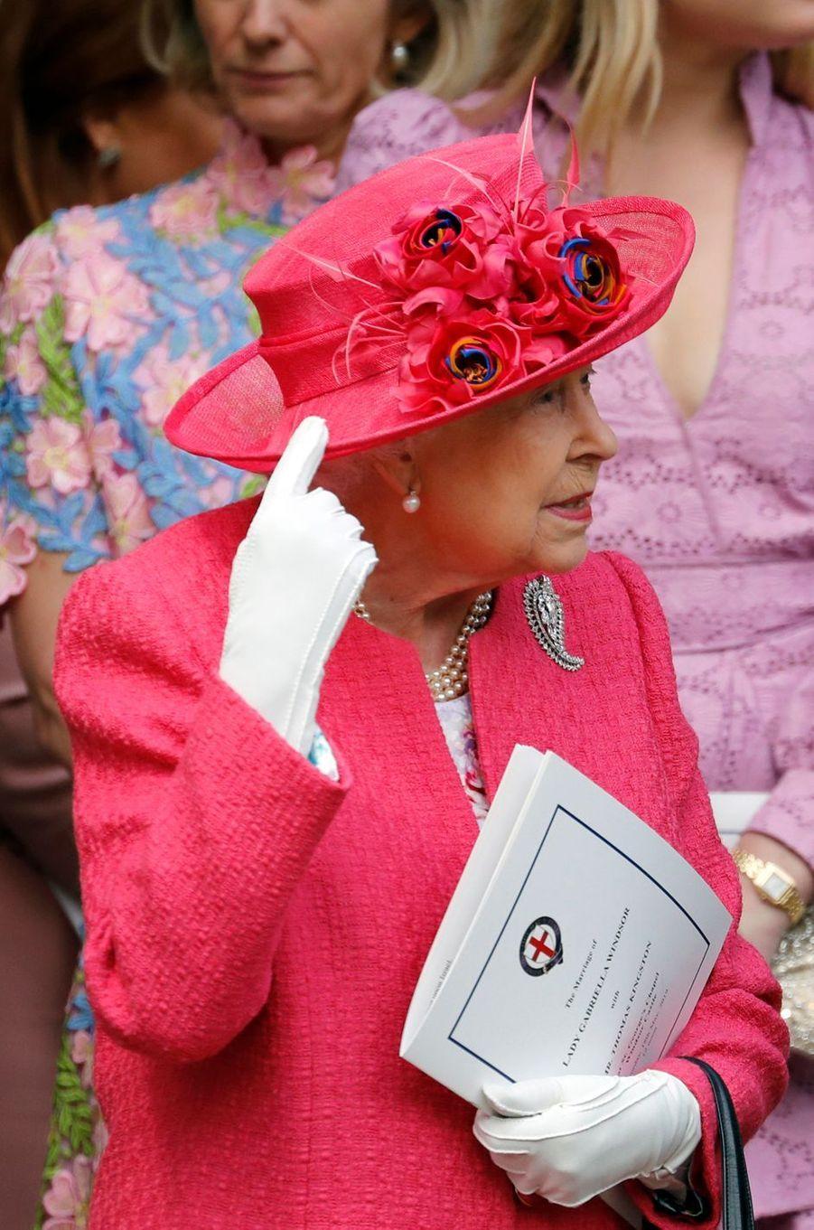 Le chapeau de la reine Elizabeth II à Windsor, le 18 mai 2019