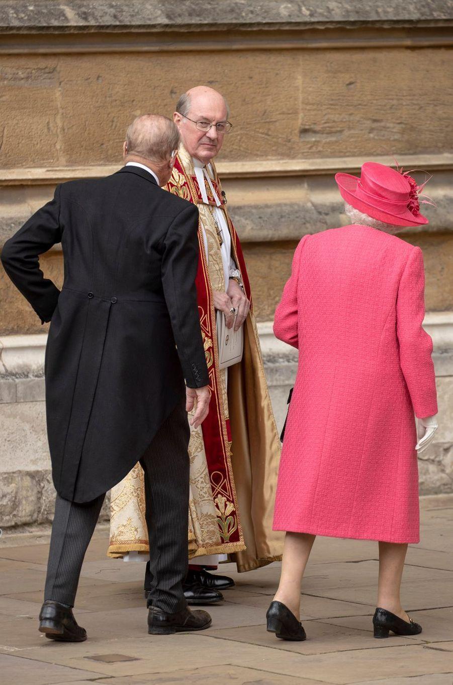 La reine Elizabeth II, de dos, à Windsor le 18 mai 2019
