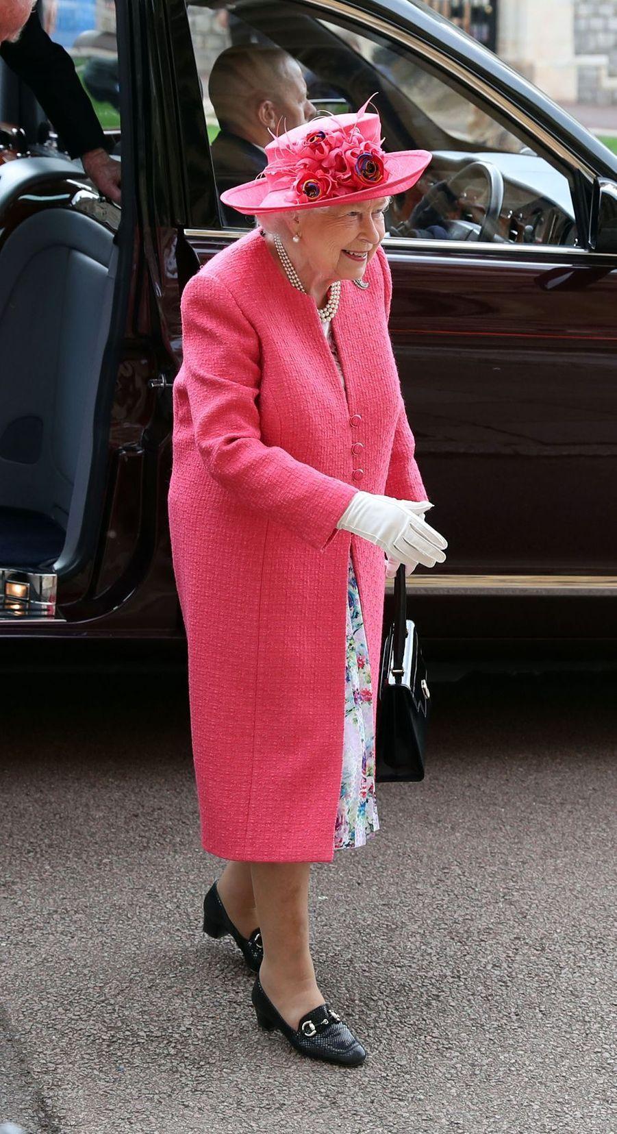 La reine Elizabeth II au mariage de Lady Gabriella à Windsor, le 18 mai 2019
