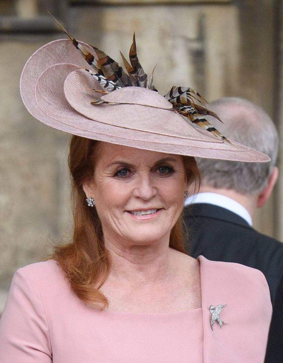 Le chapeau de Sarah Ferguson, duchesse d'York, à Windsor le 18 mai 2019