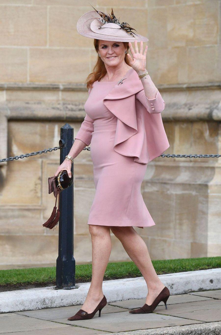 Sarah Ferguson, duchesse d'York, au mariage de Lady Gabriella, à Windsor le 18 mai 2019