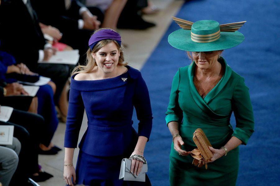 La princesse Beatrice d'York et Sarah Ferguson à Windsor, le 12 octobre 2018