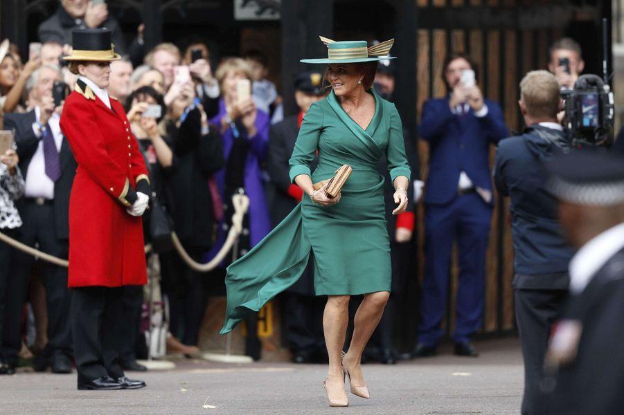 Sarah Ferguson, duchesse d'York, à Windsor le 12 octobre 2018