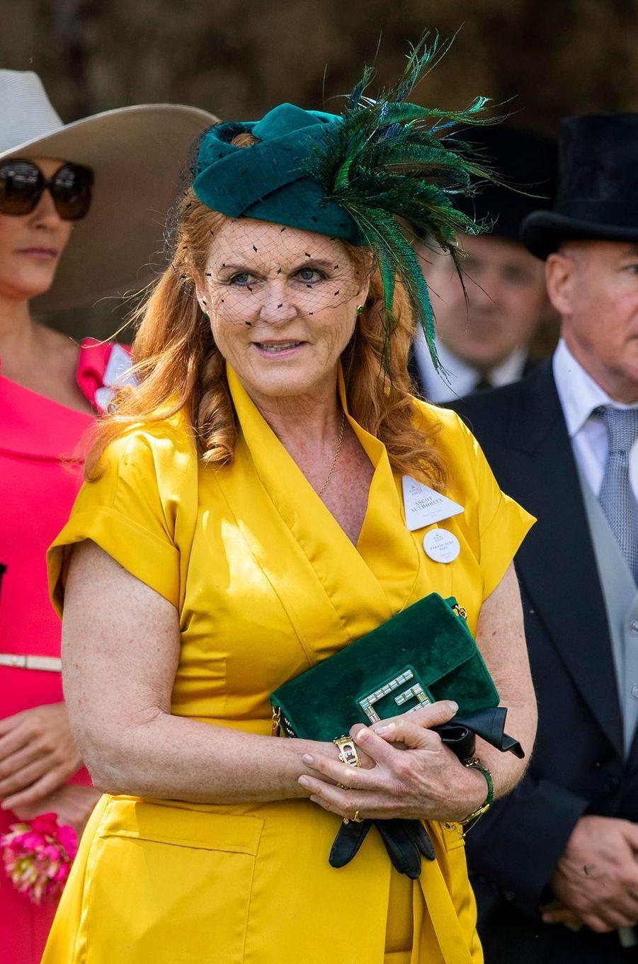 Sarah Ferguson au Royal Ascot, le 21 juin 2019