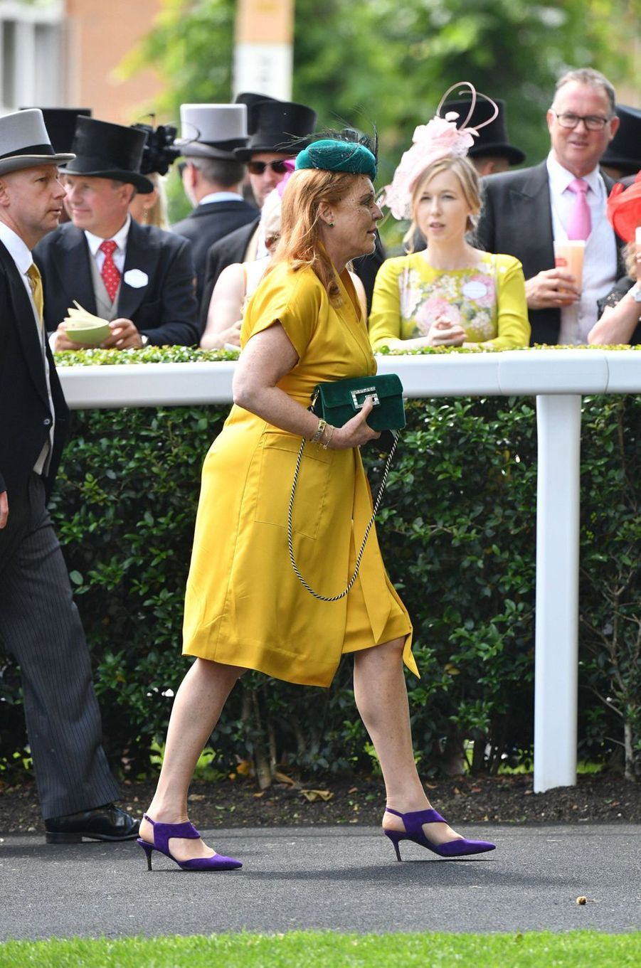 Sarah Ferguson, duchesse d'York, au Royal Ascot le 21 juin 2019