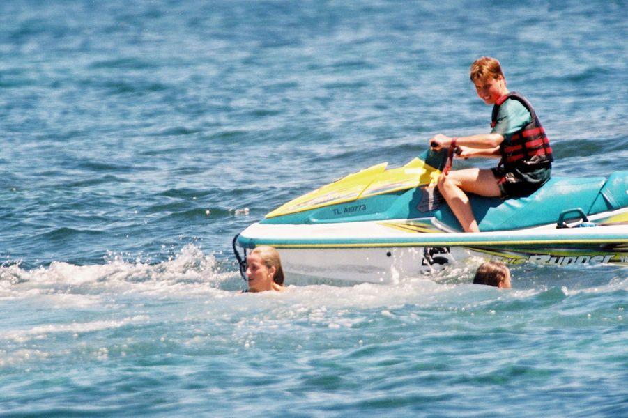 Lady Diana et le prince William à Saint-Tropez le 16 juillet 1997