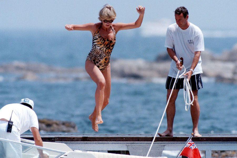 Lady Diana à Saint-Tropez le 16 juillet 1997