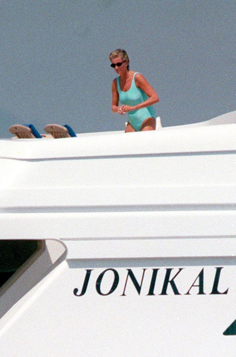 Lady Diana en Méditerranée le 22 août 1997