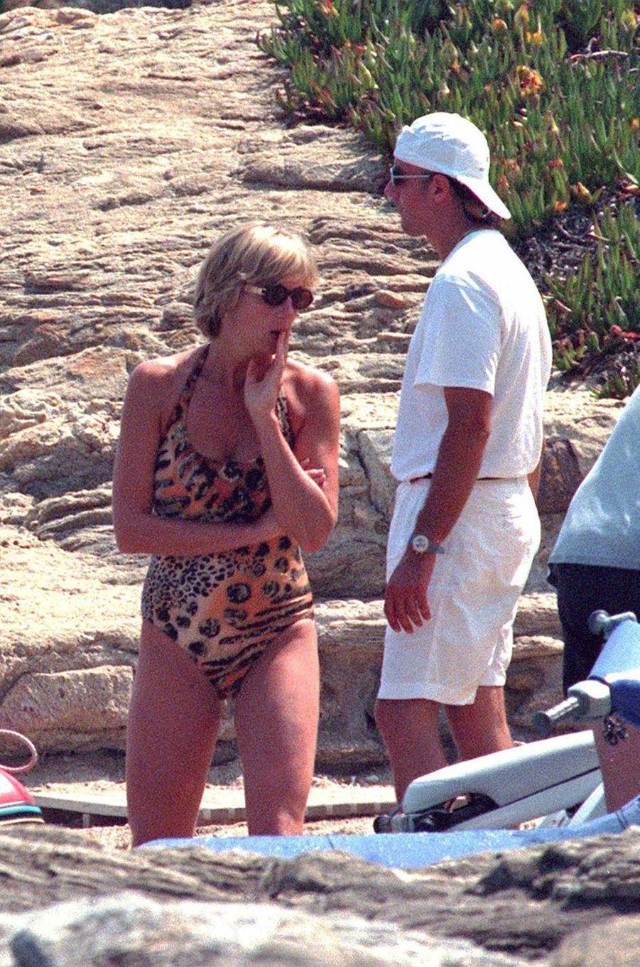 Lady Diana à Saint-Tropez le 14 juillet 1997