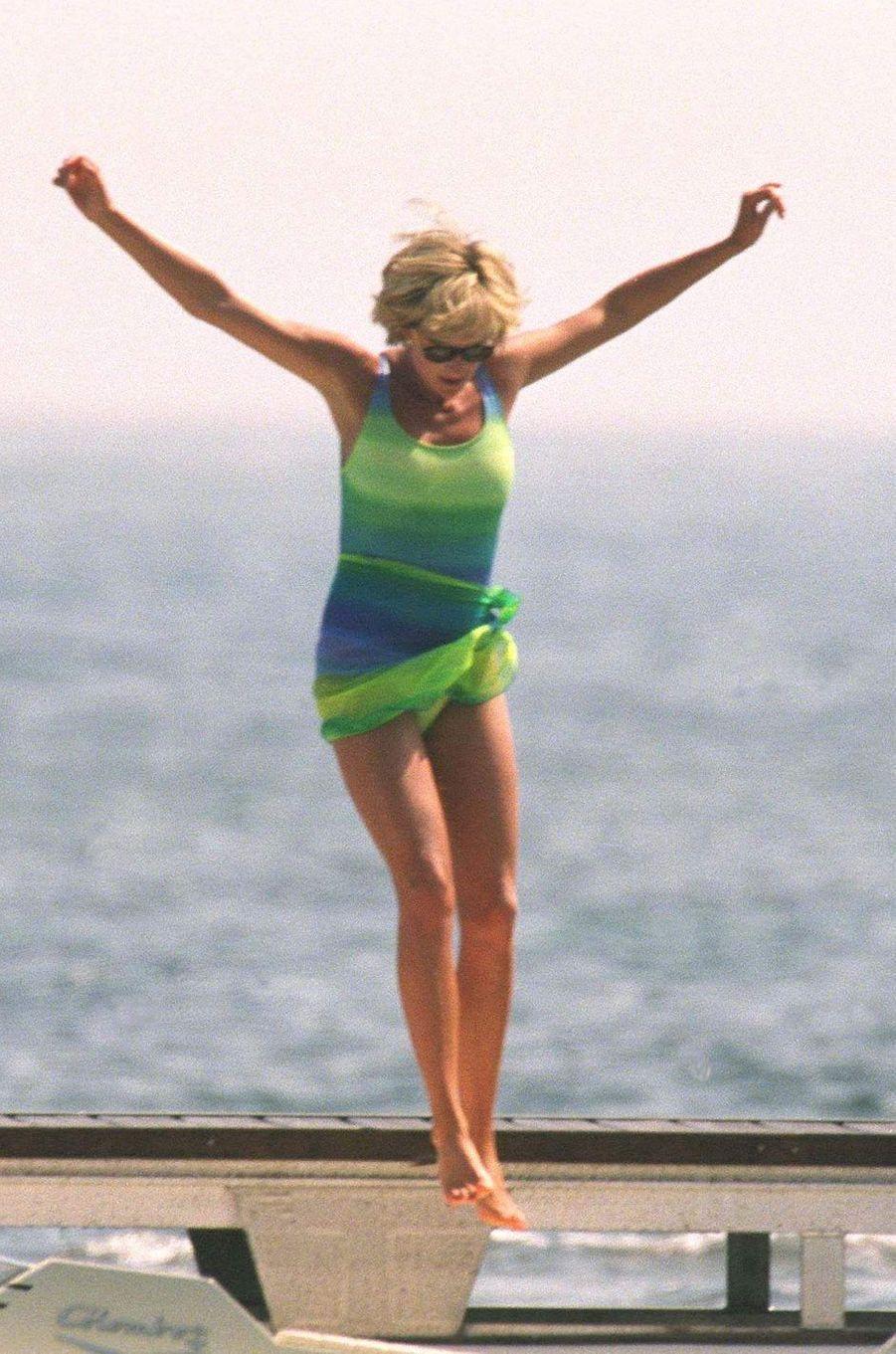 Lady Diana en Méditerranée le 17 juillet 1997