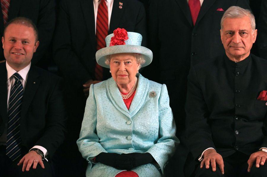 La reine Elizabeth II au sommet du Commonwealth à Malte, le 27 novembre 2015
