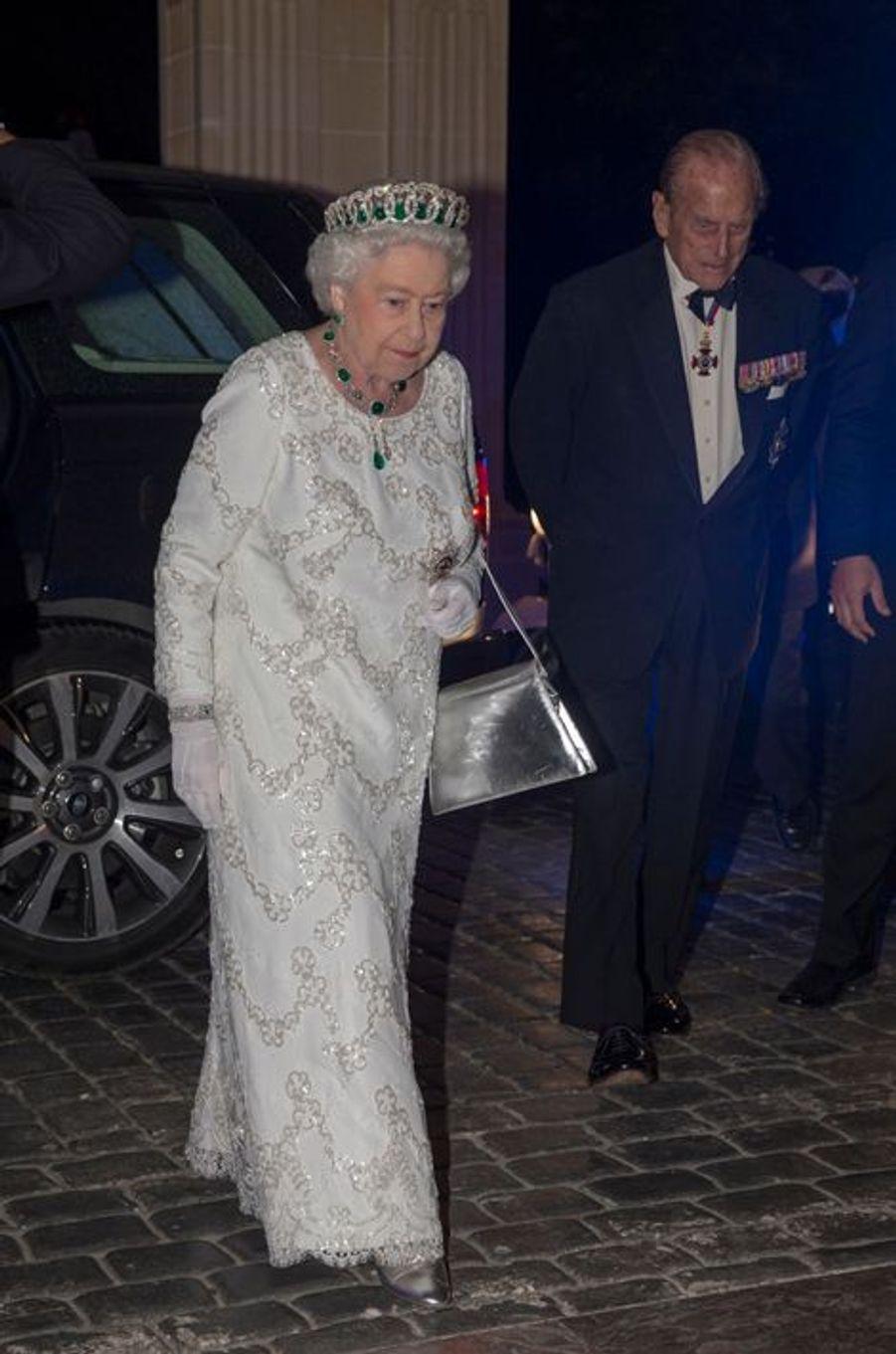 La reine Elizabeth II et le prince Philip à Attard sur l'île de Malte, le 27 novembre 2015