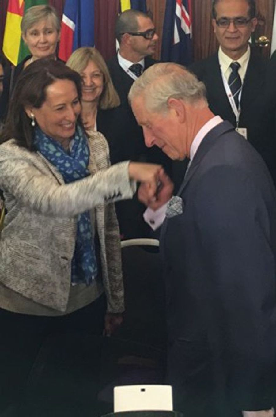 Le prince Charles avec Ségolène Royal à Malte, le 27 novembre 2015
