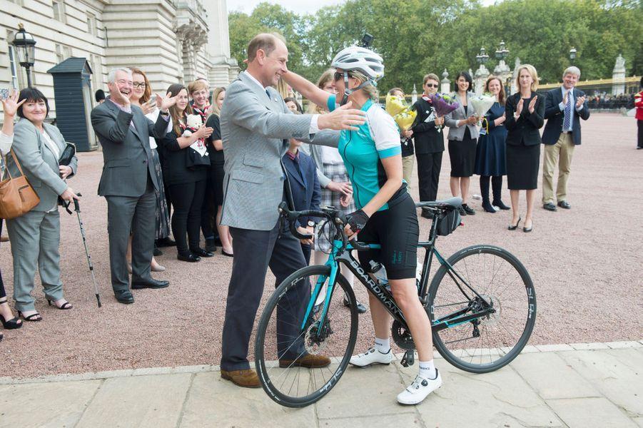 Sophie de Wessex et le prince Edward à Londres, le 25 septembre 2016