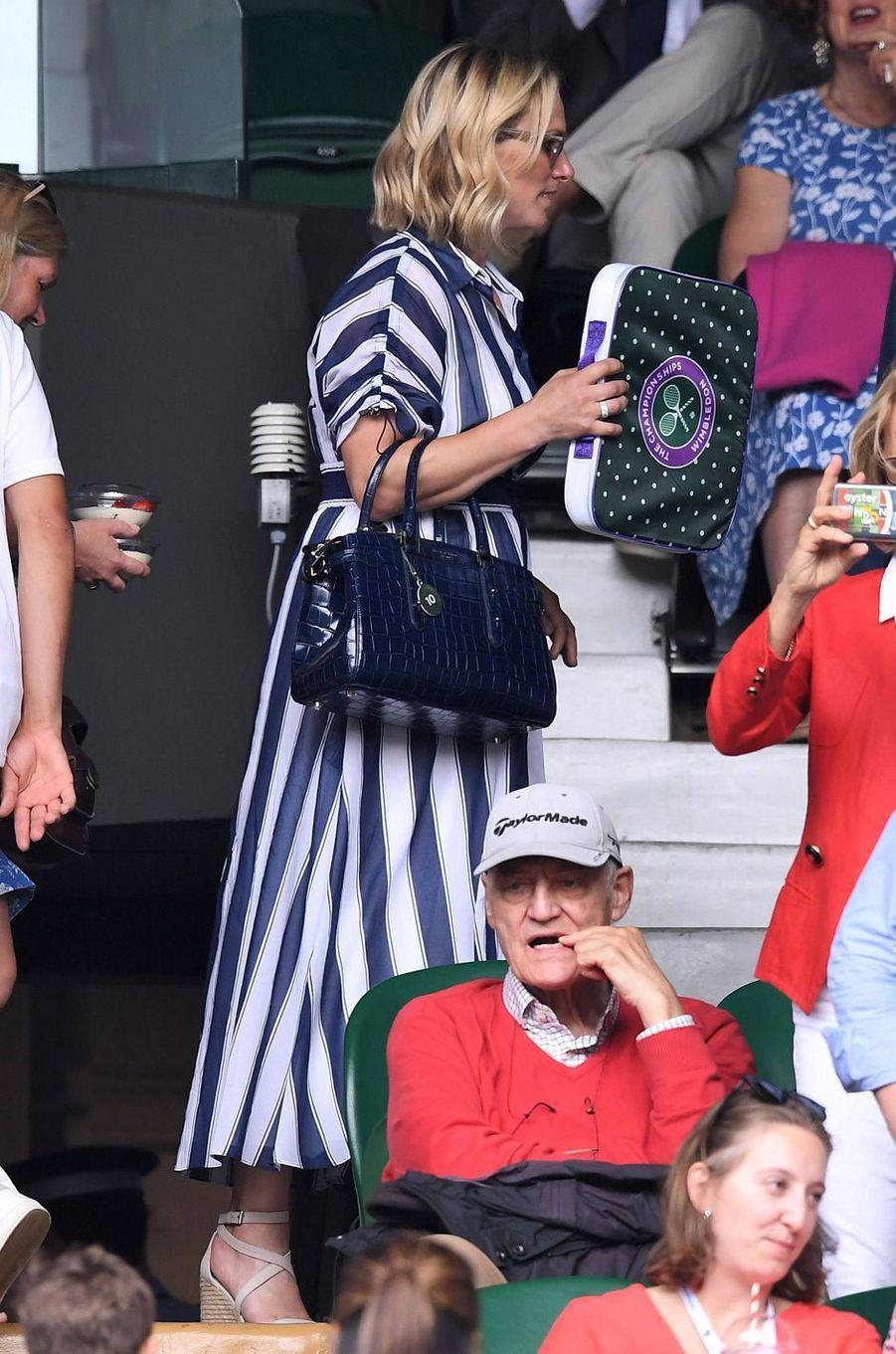 Zara Phillips au tournoi de Wimbledon à Londres, le 10 juillet 2019