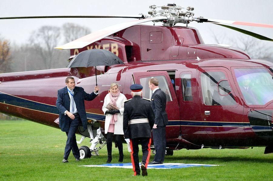 La comtesse Sophie de Wessex à son arrivée à Alfreton, le 20 novembre 2018