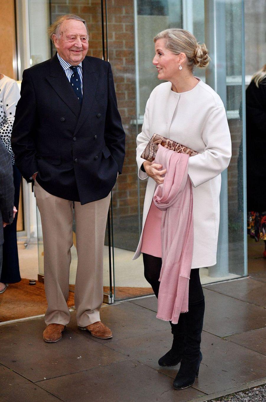 La comtesse Sophie de Wessex avec David Nieper à Alfreton, le 20 novembre 2018