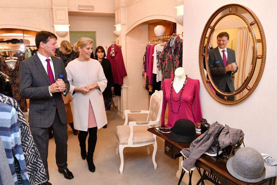 La comtesse Sophie de Wessex à Alfreton, le 20 novembre 2018